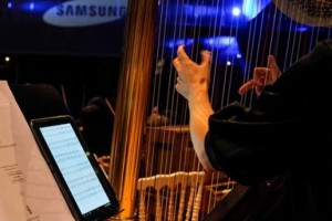 Samsung a fourni les tablettes 10 pouces utilisées par le Philarmonique de Bruxelles