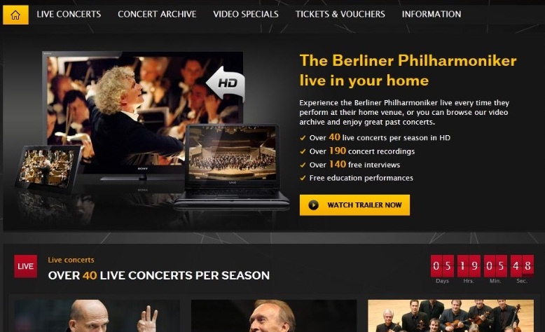 Digital Concert Hall : webTV of the Berliner Philarmoniker