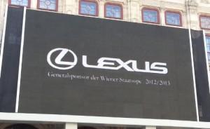 Lexus : Major Sponsor of Vienna State Opera (Wiener-Staatsoper)