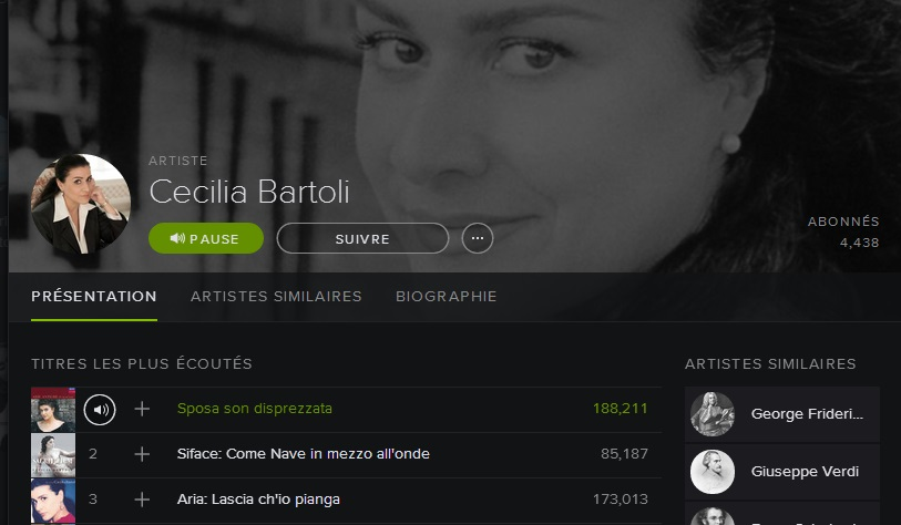 Cecilia Bartoli on Spotify