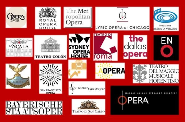 Top 20 opera houses of the world regarding social networks communities