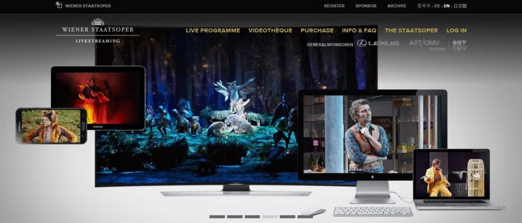 StaatsOperLive is available for every kind of screens