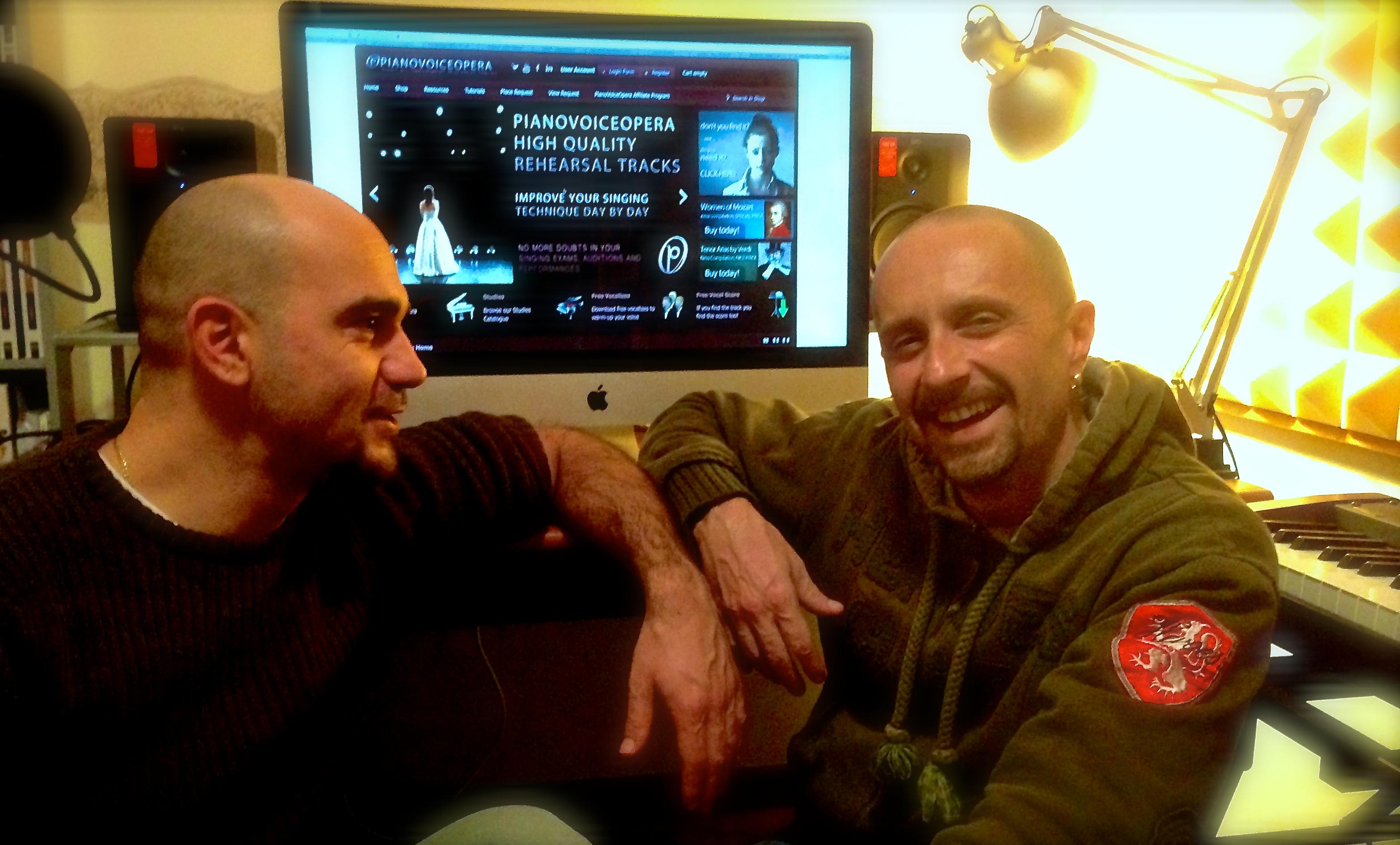 Fabio and _Andrea cofunders of pianovoiceopera